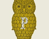 Owl Pepper Shaker screen print