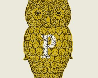 Owl Pepper Shaker screen print