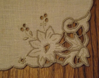 Vintage Vanity Dresser Set/Place Mats  with Madeira Embroidery