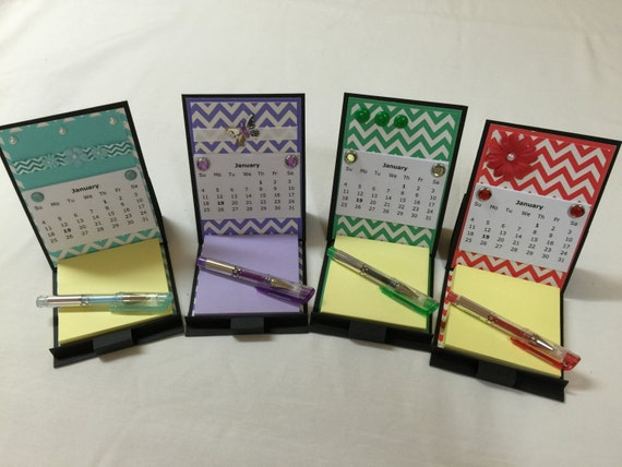Diy Easel Calendar : Items similar to desk calendar post it note easel card