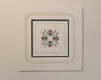 "11"" x 11"" matted PaperQuilt"