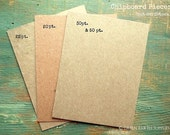 """25 A2 Chipboard Pieces: Rustic Kraft Brown Display Cards, Recycled, 4.25""""x5.5"""" (108x140mm), Choose 20pt,  22pt, 30pt or 50pt (.050"""")"""