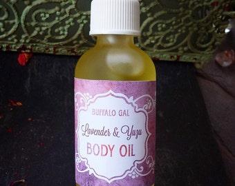 Organic Body Oil // LAVENDER YUZU // toxin free moisture Bath Body & Massage // Organic  Vegan  Cruelty Free  Natural Skincare