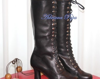 Victorian Style Heeled Black Boots Ankle boots Order your Customized boots