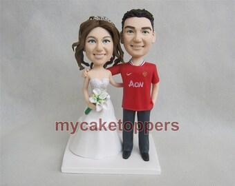wedding cake topper custom cake topper for wedding, jersey cake topper, sport cake topper,hand crafted cake topper funny cake topper