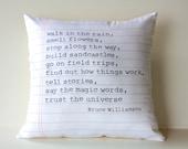 16x16 cushion decorative pillow POEM cushion, 40cm cushion cover Organic cotton,16inch cushion cover, 16x16 pillow, decorative pillow