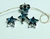 Vintage Swarovski Bermuda Blue Star Sew Ons 10mm (2)