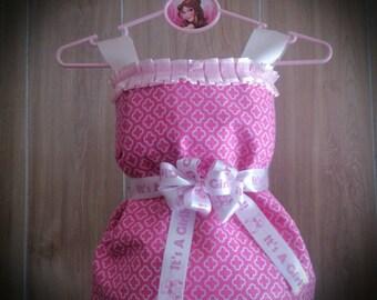 Diaper Cake for Girls, Baby Shower Centerpiece, Newborn Baby Welcome Gift, Dress Diaper Cake, Wedding Shower Towel Cake, Girls Diaper Cake