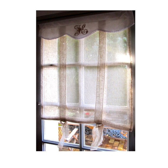 Sheer Natural French Door Curtain 64 Inch By Linenandletters