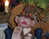 Primitive Patti's Ratties Pilgrim Little Saul Ornie Doll Pattern 225