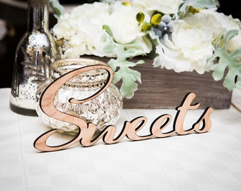 "Sweets Sign Wedding Sign for Dessert or Cake Table, Candy Buffet, Sign for Wedding or Party Dessert Table ""Sweets"" (Item - LSW100)"