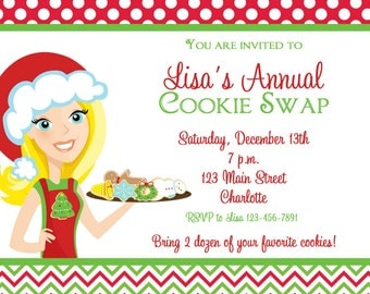 Cookie Swap Invitation Cookie Exchange Invitation Christmas Cookies Holiday Cookies