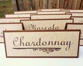 Vineyard Wedding Wine Table Name Place Cards Rustic Wine Tasting Party