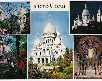 Paris Postcard Sacre Coeur Basilica Vintage Souvenir - Roman Catholic Sacred Heart -  France Travel Yvon Postcard French
