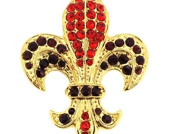 Golden Fleur-De-Lis Symbol Brooch/Pendant 1001121
