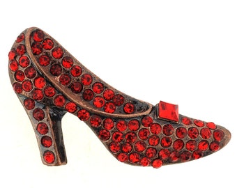 Vintage Style Red Pumps Pin Brooch 1000172