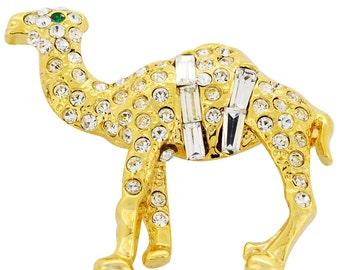Golden Camel Pin Crystal Brooch Pin 1012212