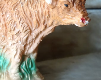 Vintage  Cow  Nativity Replacement or Your Private Collection Chalk Ware