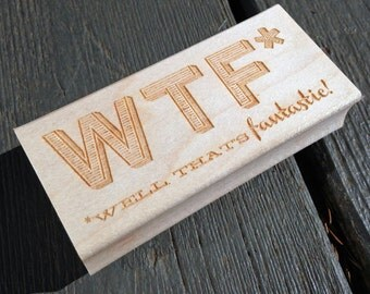 WTF Stamp | Well That's Fantastic Stamp | Funny Teacher Stamp | Witty Office Stamp | Sarcastic Sassy Witty