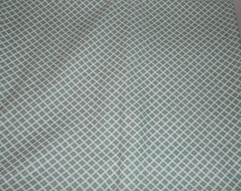 Vintage Sage Green Checked Fabric