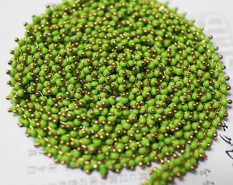 The light green beads chain