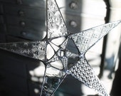 Inception Star- Clear patterned star surrounding a smaller star- 10 inches