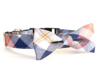New Color! Davidson Plaid, Dog Cat Pet bow tie, collar, leash for dog park, party, family photo and wedding!