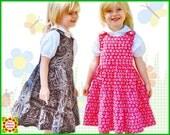 Twirly Jumper Girls Dress Pattern + Free Mother-Daughter Apron Pattern, Sewing Pattern Children, Kids, Toddler, Clothing Patterns, handmade