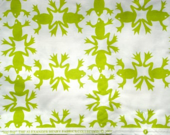 "Alexander Henry ""leap frog"" fabric 2007 FQ or more"