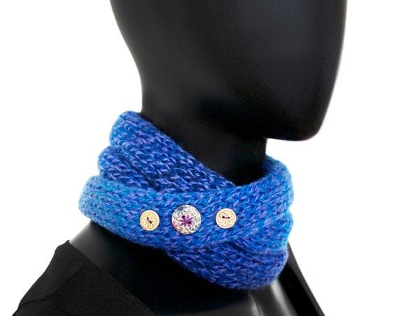 Ladies' Nuzzler - Cornflower - Cornflower Blue Neckwarmer Infinity Spring Scarf