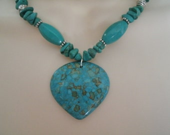 Turquoise Necklace, southwestern jewelry southwest jewelry turquoise jewelry native american theme jewelry western jewelry cowgirl country