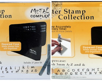 Metal Stamping Set-Posh Font Combo-Lowercase/Uppercase Alphabet Metal Stamp Set- 3mm in size- Metal Stamps-Metal Supply Chick