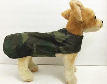 Rip Stop Raincoat Harness-Vest for small dog.