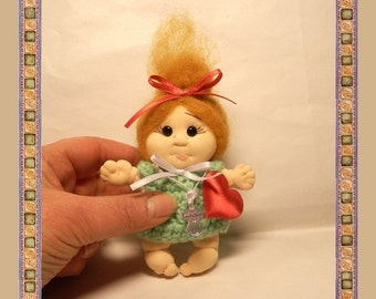 Small  Soft Sculpture Doll  Baby