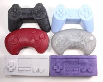 Video Game Controller Soaps - set of 6 - Playstation, Nintendo, Sega, joystick, classic, gamer, geek, stocking stuffer, party favor, boys