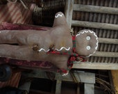 On Sale-Large Primitive Christmas Gingerbread Doll-FAAP