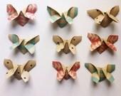 Origami Butterflies in Modern Kraft
