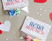 You Make My Heart Bounce DIY Valentine Printable (INSTANT DOWNLOAD) by Love The Day