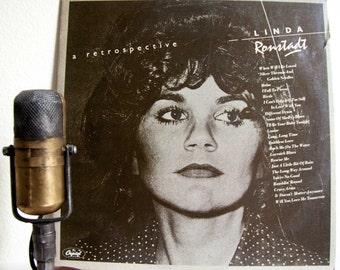 "Linda Ronstadt Vinyl LP Records Vintage 1970s Light Rock Classic Rock and Roll Country Folk Pop Ballads ""A Retrospective""(1977 Capitol)"