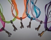 Roller Skating Party Favors / Roller Skating Charm Necklaces / Organza Ribbon Necklace / Girls Party Favors