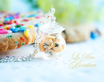 Chocolate Chip cookies in a Jar Necklace