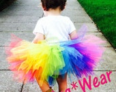 Custom Birthday Circus Clown Rainbow Candyland (Tutu only)