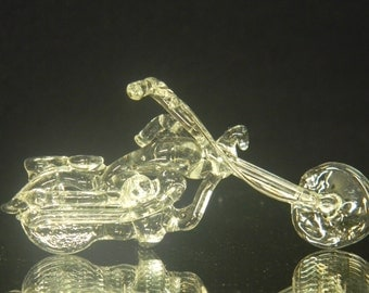 Small glass motorcycle