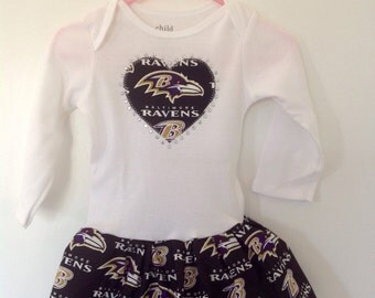 Baltimore Ravens Inspired Infant Dress