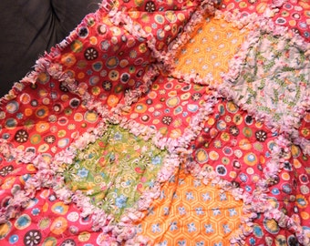 Adorable Toddler Rag Quilt 41x68