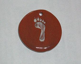 Ceramic Pendant Foot terra cotta