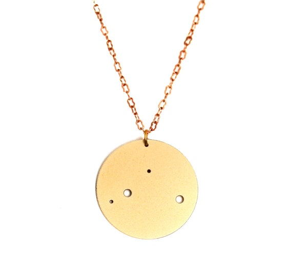 Libra Gold Flash Constellation Pendant Necklace