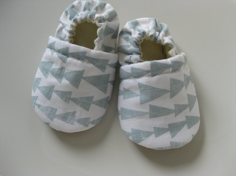Gender Neutral Baby Shoes Arrows Cloth Booties Vegan Baby