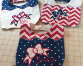 Personalized Baby Bib with Appliqué and Decorative Stitching