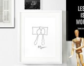 SALE Minimalist Poster / Black and White Home / Bedroom Print / Wedding Poster / Let's Spoon / Modern Home / Anniversary Gift / A4 Poster